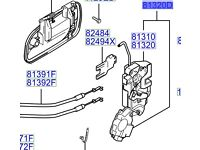 Hyundai Santa Fe Door Latch O/S/R 8132026021