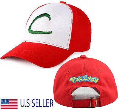 Pokemon Trainer Hat Cosplay Ash Ketchum Costume Baseball Cap Anime Pokedex