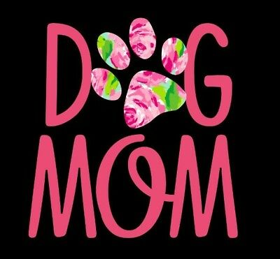 Dog Mom Decal with Pink Floral Decorative Paw Print - Window Decal](Dog Decorations)