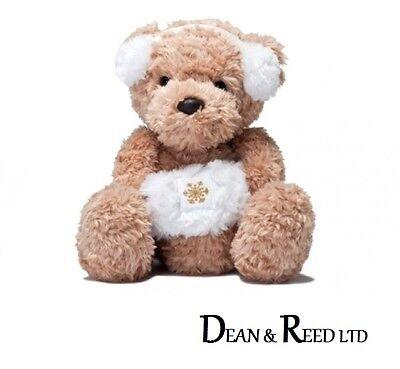 10 Christy Teddy Bear With White Muff Plush Cuddly Soft Toy Aurora Christmas