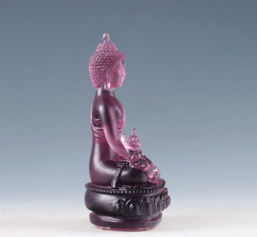 EXQUISITE CHINESE COLOURED GLAZE HAND CARVED BUDDHA STATUES