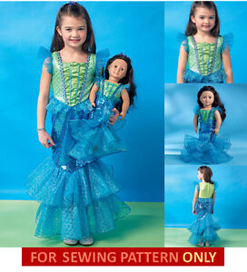 SEWING PATTERN MAKE LITTLE MERMAID COSTUME FOR GIRL & AMERICAN GIRL DOLL! ARIEL!