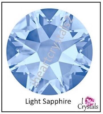 (LIGHT SAPPHIRE 34ss 7mm 12 pieces SWAROVSKI Crystal Flatback Rhinestones 2088)