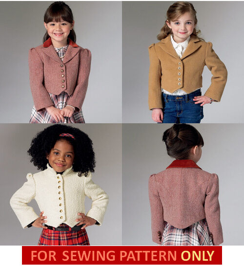Купить Mccalls - SEWING PATTERN! MAKE GIRLS FITTED JACKET! VOGUE SIZE 3-8! SCHOOL~DRESS CLOTHES!