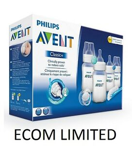 Philips-Avent-SCD371-Starter-Set-Classic-Newborn-Bottle-Kit-PBA-FREE