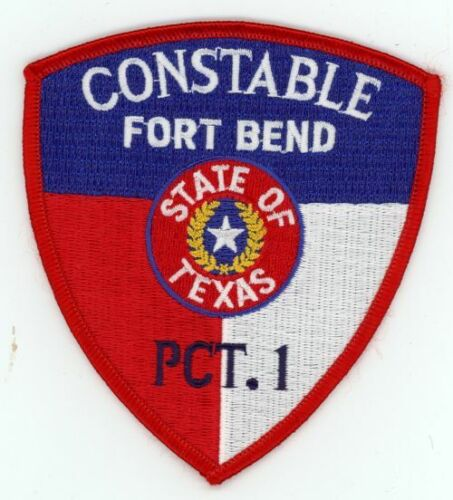 FORT BEND COUNTY TEXAS TX CONSTABLE PRECINCT 1 NEW PATCH POLICE SHERIFF