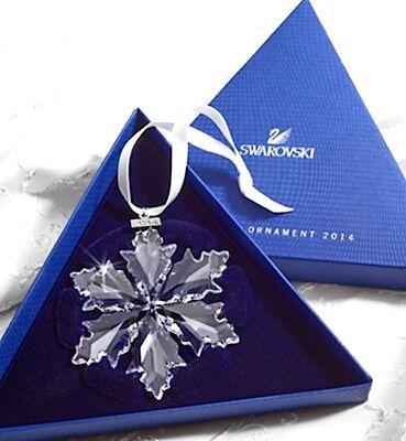 2014 Swarovski~Snowflake STAR Annual Christmas ORNAMENT ~NIB ~Triangle box