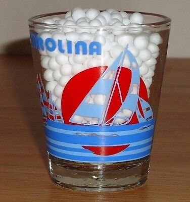 SOUTH CAROLINA souvenir shot glass w/Sailboats