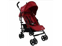 Red kite Push me Stroller, Quattro Cherry colour with foot muff - Brand new, unwanted gift