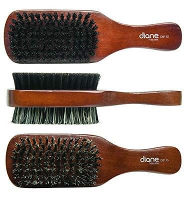 Diane 100% Boar 2-Sided Club Brush, Medium and Firm Bristles, D8115  by Diane 100% Boar Club Brush