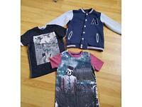 Boys jacket and 2 t-shirts age 8-9yrs