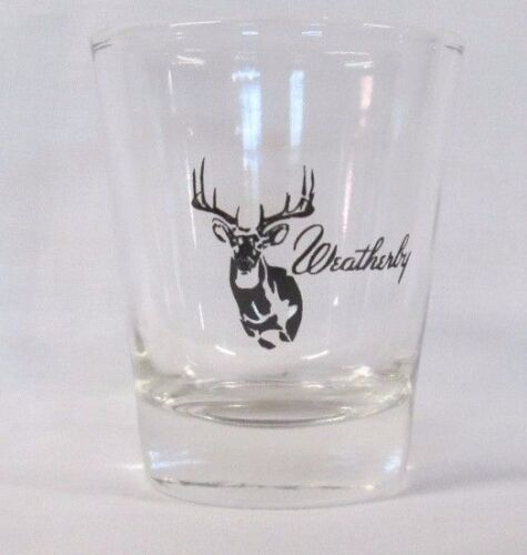 Weatherby Guns Logo on Clear Shot Glass