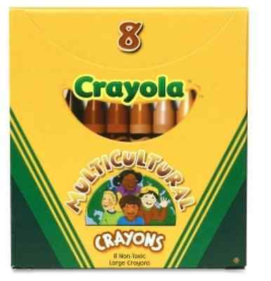 2 BX CRAYOLA MULTICULTURAL LARGE CRAYONS DIFFERENT SKIN HUES EYES & HAIR - Crayola Multicultural Crayons