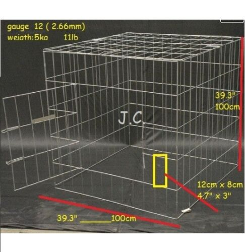 """(5) PACK CAGE FOR ROOSTERS 39.3 """"X 39.3"""""""