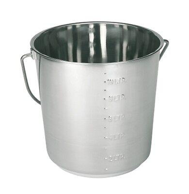 Edelstahleimer 12,3  Liter  Eimer NEU !