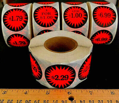 Roll Of 500 U-pick Retail Store Garage Sale Burst Price Stickers Labels Tags