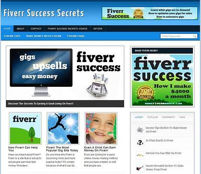 Fiverr Success Niche Affiliate Website In Demand Income   Hosting   Installation