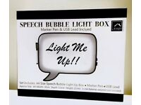 Knight Speech Bubble LED Light Up Box Write Your Own Message Sign Display