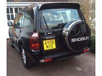 Black Mitsubishi Shogun, Automatic, 06 plate, 3.2L, Diesel, LWB