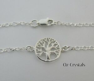 Solid Sterling Silver Celtic Tree Of Life Anklet - 25cms or made to measure