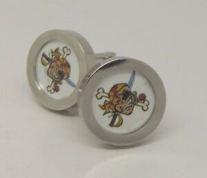 Marco Pantani cycling cuff links pair mercatoni uno bianchi team.