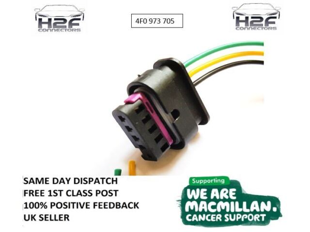 SEAT Leon FR  Mass Air Flow MAF Connector 4F0973705 4F0 973 705 Pre-Wired 5 PIN