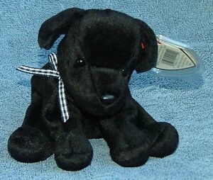 Luke the black lab Ty Beanie Baby stuffed animal