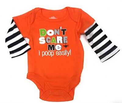 Halloween Baby Scare (Baby Boy or Girls 12 Mo DON'T SCARE ME I POOP EASILY Halloween)