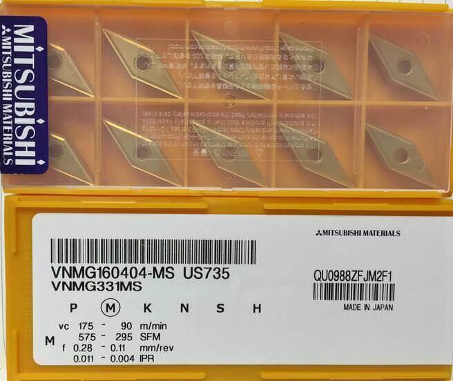 10Pcs NEW Mitsubishi blade VNMG160404-MA US735 VNMG331MA