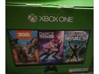 Xbox one 500 gb with Kinect and 6 games