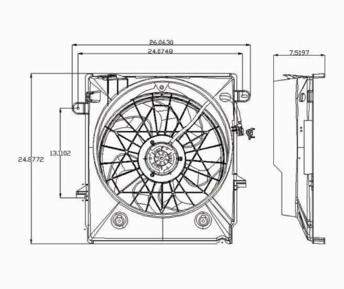 Dual Radiator and Condenser Fan fits 2005-2006 Saturn