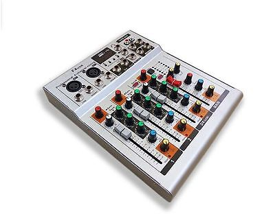 (4 Way F4-USB 4 Channel PA Mixing Mixer with MP3 Player for Shure Wireless System)