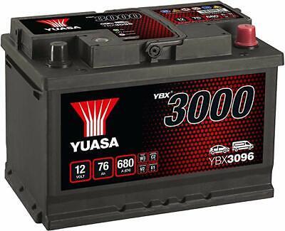 YUASA PREMIUM 12v Type 067 Car Battery 3 Year Warranty - YBX3096