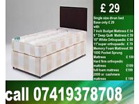 New King Size Bed, double , single base with Mattress