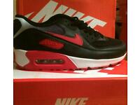 NIKE AIRMAX 7 8 9 BLACK RED AND WHITE