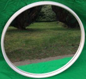 1230 Round Plastic Framed Mirror