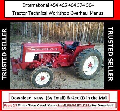 International 454 465 484 574 584 Tractor Technical Workshop Overhaul Manual