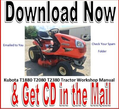 Kubota T1880 Garden Tractor Factory Service Maintenance Repair Manual