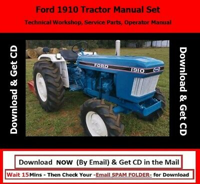 Ford 1910 Tractor Manual Set -technical Workshop Service Parts Operator Manual