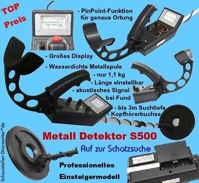 SuperEye S500 Metall Detektor Professionelle Ausführung Metallsuchgerät PinPoint