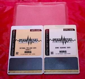 Korg-2-Card-WPC-OAD-internal-Preloab-Bank3-WPC-00S-Demo-S-x-Korg-Wavestation