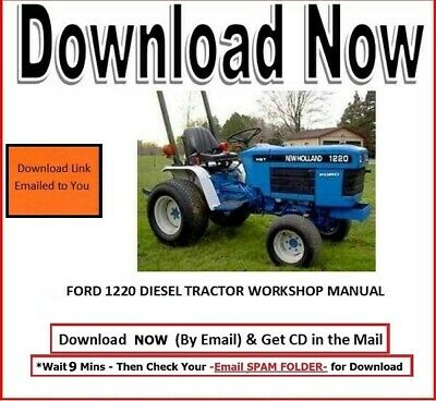 Ford 1220 Diesel Tractor Workshop Overhaul Service Maintenance Manual