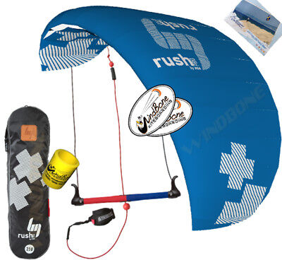 20/' Stunt Display Tail HQ 1.3M 1.3 Symphony Beach III Foil Kite w//Straps Mango