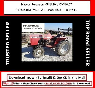 Massey Ferguson Mf 1030 L Compact Tractor Service Parts Manual Cd 146 Pages