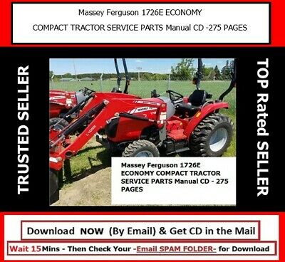 Massey Ferguson 1726e Economy Compact Tractor Service Parts Manual Cd -275 Pages
