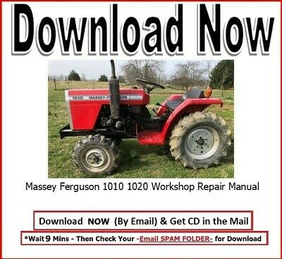 Mf Massey Ferguson Tractor 1010 1020 Shop Service Repair Manual Mf1010 Mf1020 Cd