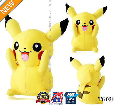 """Japanese Anime POKEMON Pikachu 8"""" 21cm Soft Plush Toy Doll Teddy Kids Gift TG021"""