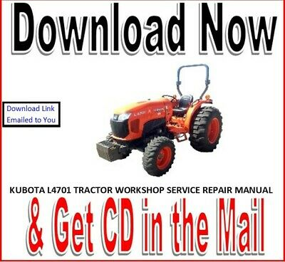 Kubota L4701 Tractor Workshop Service Repair Manual On Cd