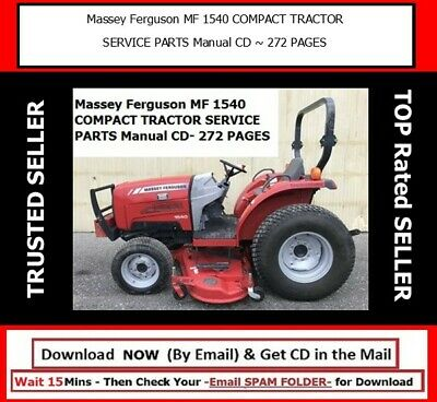 Massey Ferguson Mf 1540 Compact Tractor Service Parts Manual Cd 272 Pages