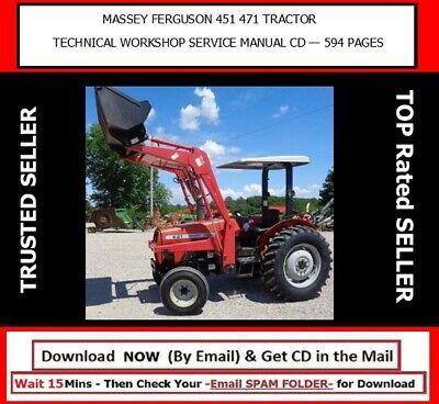 Massey Ferguson Mf451 Mf471 Tractor Technical Workshop Service Manual